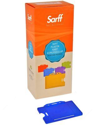 Sarff Sert Plastik Kart Koruyucu Yatay 50li Lacivert