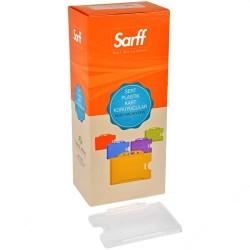 Sarff - Sarff Sert Plastik Kart Koruyucu Yatay 50li Şeffaf