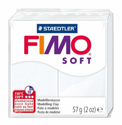 Staedtler Fimo Soft Modelleme Kili Beyaz 8020-0