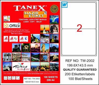 Tanex Etiket Laser 199.6x143.5 TW-2002