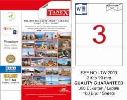 Tanex - Tanex Etiket Laser 210x99 TW-2003