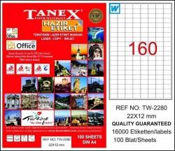 Tanex - Tanex Etiket Laser 22X12 TW-2280