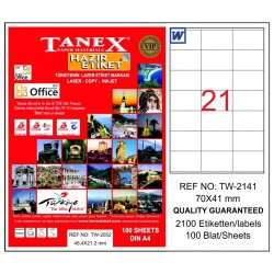 Tanex - Tanex Etiket Laser 70x41 TW-2141