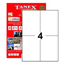 Tanex - Tanex Laser Etiket 105mmx148.5mm TW-2204