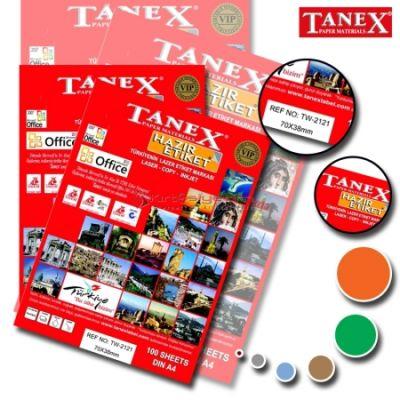 Tanex Laser Etiket 192.5mmx39mm TW-2121