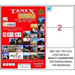 Tanex - Tanex Laser Etiket 210mmx148.5mm TW-2102