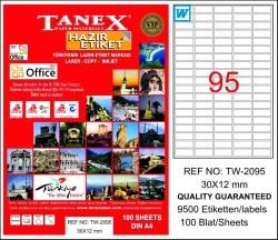 Tanex - Tanex Laser Etiket 30mmx12mm TW-2095