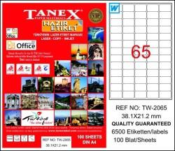 Tanex - Tanex Laser Etiket 38.1mmx21.2mm TW-2065
