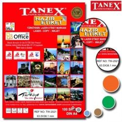 Tanex - Tanex Laser Etiket 63.5mmx38.1mm TW-2021
