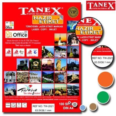 Tanex Laser Etiket 63.5mmx38.1mm TW-2021
