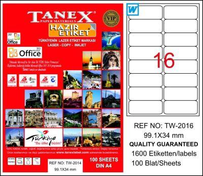 Tanex Laser Etiket 99.1mmx34mm TW-2016