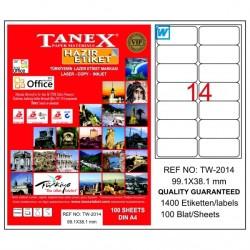 TANEX - Tanex Laser Etiket 99.1mmx38.1mm TW-2014