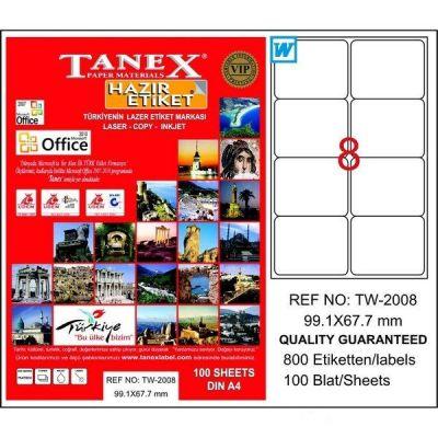 Tanex Laser Etiket 99.1mmx67.1mm TW-2008