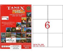 TANEX - Tanex Laser Etiket 99.1mmx93.1mm TW-2006