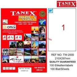 Tanex - Tanex Laser Etiketi 210mmx297mmTW-2000