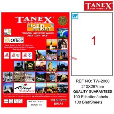 Tanex Laser Etiketi 210mmx297mmTW-2000