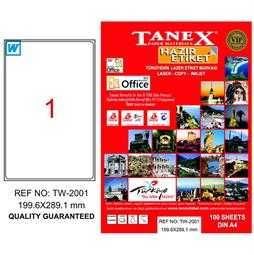 Tanex Laser Kargo Etiketi 199.6mmx289.1mm TW-2001