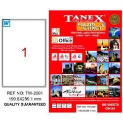 Tanex - Tanex Laser Kargo Etiketi 199.6mmx289.1mm TW-2001