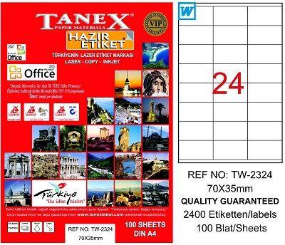 Tanex Laset Etiket 70mmx35mm TW-2324