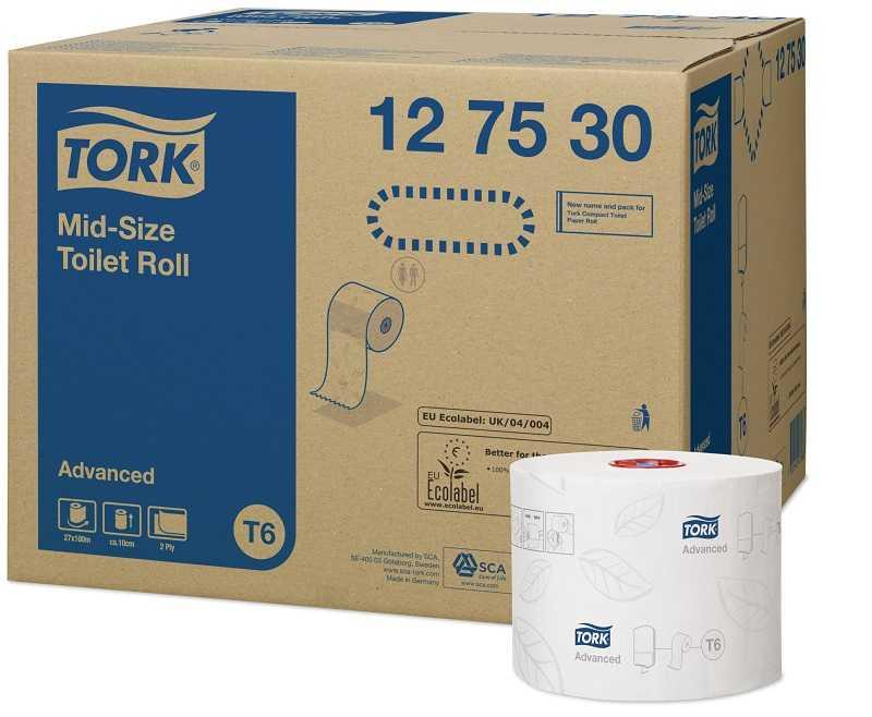 Tork Çift Rulo Tuvalet Kağıdı Advanced 100mx27li