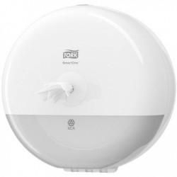 Tork Mini İçten Çekmeli Tuvalet Kağıdı Dispenseri Beyaz - Thumbnail