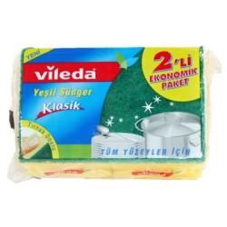 Vileda - Vileda Bulaşık Süngeri Oluklu 2li