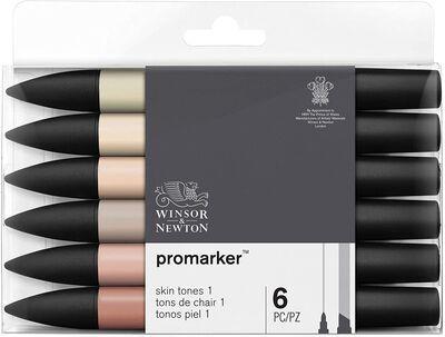 Winsor & Newton Promarker Çift Uçlu Kalem Ten Renkleri 1 6lı