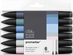 Winsor & Newton - Winsor & Newton ProMarker Gökyüzü Tonları Seti 6lı