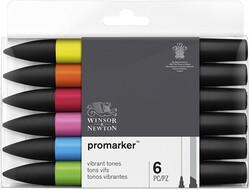 Winsor & Newton ProMarker Güçlü Tonlar Seti 6lı - Thumbnail