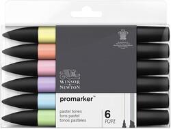 Winsor & Newton - Winsor & Newton ProMarker Pastel Tonlar Seti 6lı