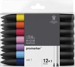 Winsor & Newton - Winsor & Newton ProMarker Set 1 12 Renk
