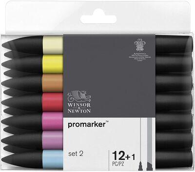 Winsor & Newton ProMarker Set 2 12 Renk