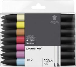 Winsor & Newton - Winsor & Newton ProMarker Set 2 12 Renk