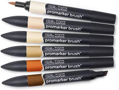 Winsor & Newton ProMarker Ten Renkleri Seti 6lı