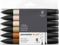 Winsor & Newton - Winsor & Newton ProMarker Ten Renkleri Seti 6lı