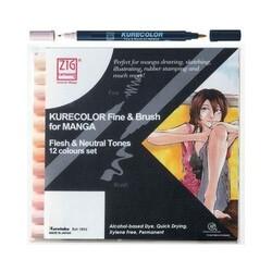 Zig - Zig Mangaka Fine&Brush Cnkc-2200/12Vfn 12li